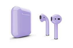 Беспроводная гарнитура Apple AirPods 2 Color беспроводная зарядка чехла (Сиреневый глянцевый)