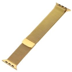 Ремешок из нержавеющей стали для Apple Watch 42/ 44мм Миланская петля (Золотистый)