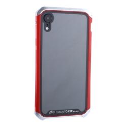 Чехол-накладка для Apple iPhone XR (6.1) Element Case G-Solace (Cеребристо-красный ободок)