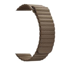 Ремешок кожаный для Apple Watch 38/ 40мм Рифленый (Коричневый)