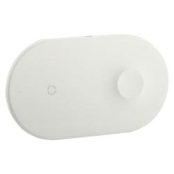 Беспроводное зарядное устройство Baseus 2в1 Wireless Charger (Белый)