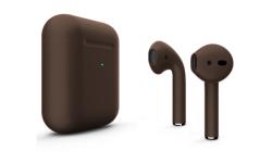 Беспроводная гарнитура Apple AirPods 2 Color беспроводная зарядка чехла (Коричневый матовый)