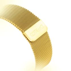 Ремешок из нержавеющей стали для Apple Watch 42/ 44мм COTEetCI W6 MAGNET Band (Золотистый)