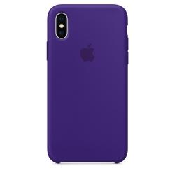 Силиконовый чехол для iPhone X (Ультрафиолет)
