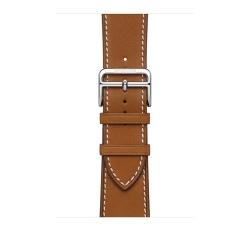 Ремешок для Apple Watch 42/ 44мм Hermès Fauve Barénia Leather Attelage Single Tour