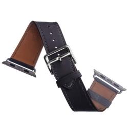 Ремешок кожаный для Apple Watch 38/ 40мм COTEetCI W8 DECOROUS (Темно-серый)