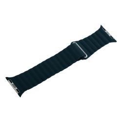 Ремешок кожаный для Apple Watch 38/ 40мм Рифленый (Зеленый)