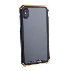Чехол-накладка для Apple iPhone XS Max Element Case G-Solace (Золотисто-черный ободок)