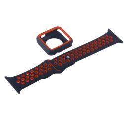 Ремешок спортивный для Apple Watch 38mm COTEetCI W32 (Черно-Красный)