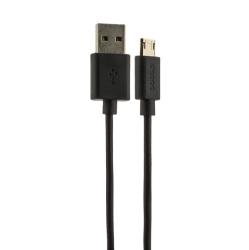 USB дата-кабель Deppa витой micro 2м (Черный)