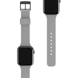 Ремешок силиконовый для Apple Watch 38/ 40мм UAG [U] DOT STRAP (Cерый)