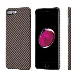 Кевларовый Чехол Pitaka для Apple IPhone 8 Plus в полоску (Черно-Коричневый)