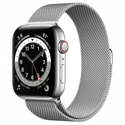 Часы Apple Watch Series 6 GPS + Cellular 44mm Silver Stainless Steel Case with Milanese Loop