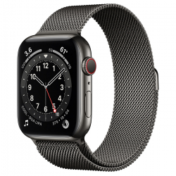 Часы Apple Watch Series 6 GPS + Cellular 44mm Graphite Stainless Steel Case with Milanese Loop