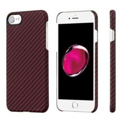 Кевларовый Чехол Pitaka для Apple IPhone 8 в полоску (Красно-Черный)