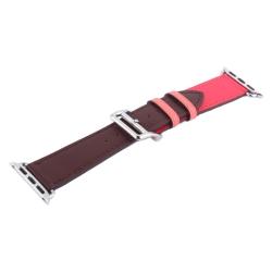 Ремешок кожаный для Apple Watch 42/ 44мм COTEetCI W36m Fashoin Leather (Коричневый-Розовый)
