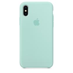 Силиконовый чехол для iPhone X/ XS (Зелёная лагуна)