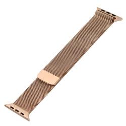 Ремешок из нержавеющей стали для Apple Watch 38/ 40мм Миланская петля (Розовое золото)