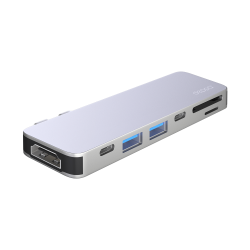 Переходник Deppa D-73122 USB-C адаптер для MacBook 7-в-1 (Серебристый)