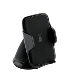Автомобильный держатель с беспроводным зарядным устройством Deppa Crab Qi Fast Charge (Черный)