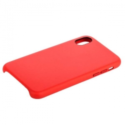 Накладка кожаная для iPhone X/ XS COTEetCI Elegant (Красный)