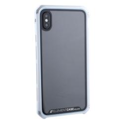 Чехол-накладка для Apple iPhone XS Max Element Case G-Solace (Cеребристо-белый ободок)