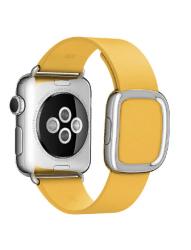 Ремешок кожаный для Apple Watch 42/ 44мм Modern Buckle (Yellow)