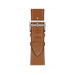 Ремешок для Apple Watch 38/ 40мм Hermès Fauve Barénia Leather Single Tour