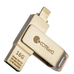 Флеш-накопитель COTEetCI U2 Civilian Version iUSB 16Gb (Серебристый)