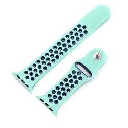 Ремешок спортивный для Apple Watch 38/ 40мм W12 Sport Band (Turquoise/blue)