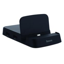 Док-станция&USB-концентратор Baseus Mate Docking HUB 7в1 (Черный)