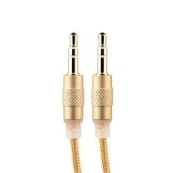 Акустический кабель Aux 3.5mm COTEetCI Nylon Audio line Cable (1.5 м) Золотистый