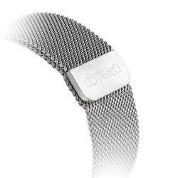 Ремешок из нержавеющей стали для Apple Watch 42мм COTEetCI W6 MAGNET Band (Серебристый)