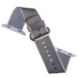 Ремешок из плетёного нейлона для Apple Watch 38/ 40мм COTEetCI W11 NYLON BAND (Серый)