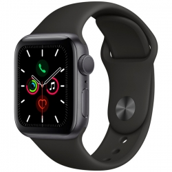 Умные часы Apple Watch S5 40mm Space Grey Aluminium Case with Black Sport Band (MWV82)