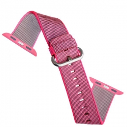 Ремешок из плетёного нейлона для Apple Watch 38/ 40мм COTEetCI W11 NYLON BAND (Розовый)