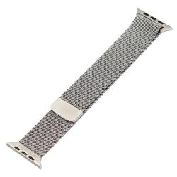 Ремешок из нержавеющей стали для Apple Watch 38/ 40мм Миланская петля (Серебристый)