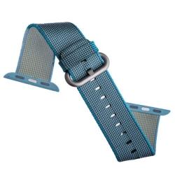Ремешок из плетёного нейлона для Apple Watch 38/ 40мм COTEetCI W11 NYLON BAND (Небесно-голубой)