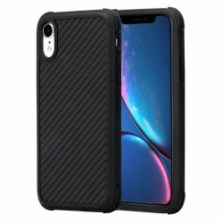 Противоударный Карбоновый Чехол Pitaka Для Apple IPhone Xr (Черно-Серый)
