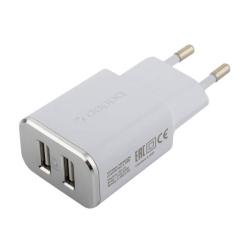 Сетевое зарядное устройство Deppa Ultra MFI 2.4A, дата-кабель 8-pin Lightning (2USB: 5V/2.4A) Белый