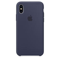 Силиконовый чехол для iPhone X/ XS (Тёмно-синий цвет)