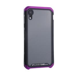 Чехол-накладка для Apple iPhone XR (6.1) Element Case G-Solace (Фиолетово-черный ободок)
