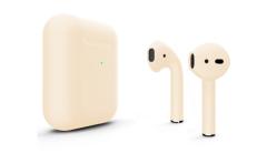 Беспроводная гарнитура Apple AirPods 2 Color беспроводная зарядка чехла (Бежевый матовый)