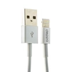 USB дата-кабель Deppa MFI витой 8-pin Lightning 1.5м (Белый)