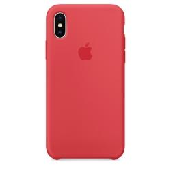 Силиконовый чехол для iPhone X/ XS (Спелая малина)