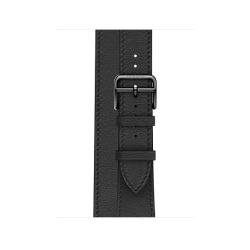 Ремешок для Apple Watch 38/ 40мм Hermès Noir Swift Leather Double Tour