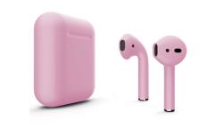 Беспроводная гарнитура Apple AirPods 2 Color беспроводная зарядка чехла (Гвоздика матовый)