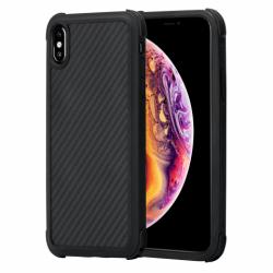 Противоударный Карбоновый Чехол Pitaka Для Apple IPhone Xs (Черно-Серый)