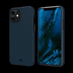 Чехол для iPhone 12 mini Pitaka MagEZ Case в полоску (Черно-синий)