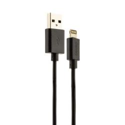 USB дата-кабель Deppa витой 8-pin Lightning 1.5м (Черный)